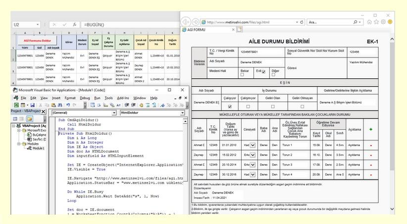 Excel Makro İle Web Form Doldurma